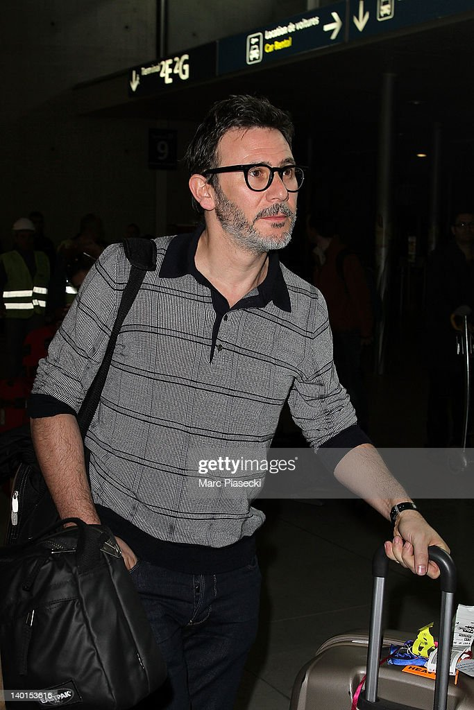Director <a gi-track='captionPersonalityLinkClicked' href=/galleries/search?phrase=Michel+Hazanavicius&family=editorial&specificpeople=678372 ng-click='$event.stopPropagation()'>Michel Hazanavicius</a> is sighted at Aeroport Roissy - Charles de Gaulle on February 29, 2012 in Paris, France.