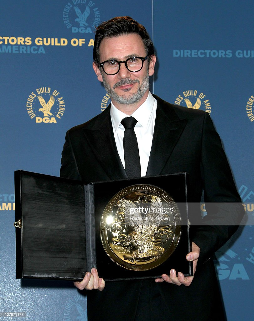 Director Michel Hazanavicius winner of the Outstanding Directorial Achievement in Feature Film for 2011 award for 'The Artist' poses in the press...