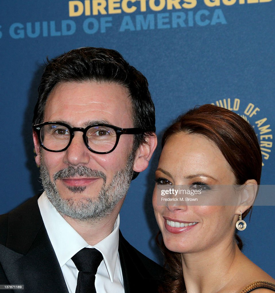 Director Michel Hazanavicius winner of the Outstanding Directorial Achievement in Feature Film for 2011 award for 'The Artist' and actress Berenice...