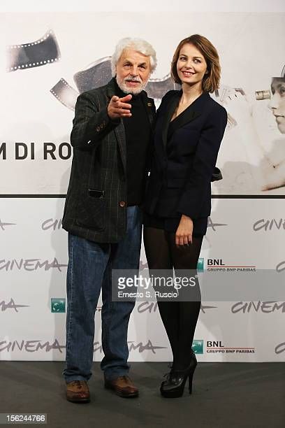 Director Michele Placido and actress Violante Placido attend 'The Lookout' Photocall during the 7th Rome Film Festival at the Auditorium Parco Della...