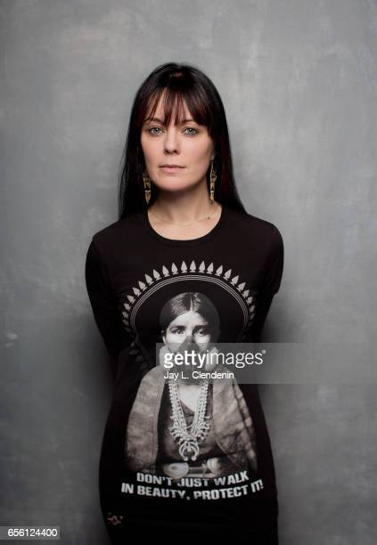 Director Michelle Latimer from the documentary film Rise is photographed at the 2017 Sundance Film Festival for Los Angeles Times on January 23 2017...