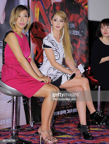 Director Mika Ninagawa and Erika Sawajiri attend the 'Helter Skelter' Press Conference at COEX Megabox on April 17 2013 in Seoul South Korea
