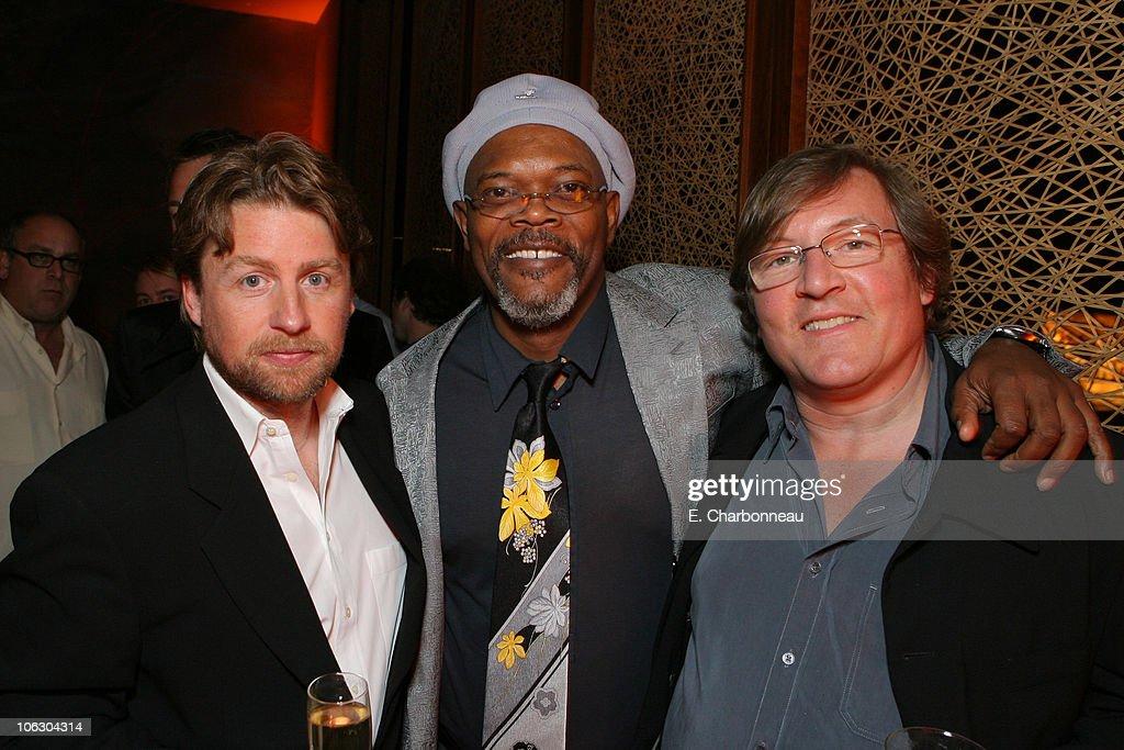 Director Mikael Hafstrom Samuel L Jackson and Producer Lorenzo di Bonaventura