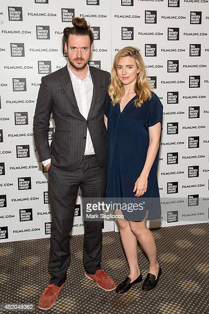 Director Mike Cahill and Actress Brit Marling attend the 'I Origins' panel discussion at Elinor Bunin Munroe Film Theater at Lincoln Center on July...
