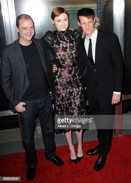 Director Mike Flanagan actress Karen Gillan and actor Matt Smith attend the Screening Of Relativity Media's 'Oculus' held at TLC Chinese 6 Theatres...