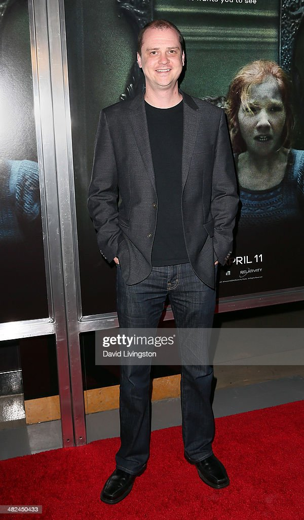Director Mike Flanagan attends a screening of Relativity Media's 'Oculus' at TCL Chinese 6 Theatres on April 3 2014 in Hollywood California