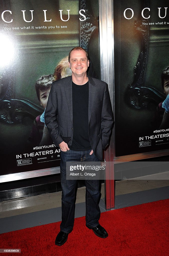 Director Mike Flanagan attends the Screening Of Relativity Media's 'Oculus' held at TLC Chinese 6 Theatres on April 3 2014 in Hollywood California