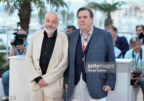 Director Mike Leigh and actor Timothy Spall attend the 'Mr Turner' photocall during the 67th Annual Cannes Film Festival on May 15 2014 in Cannes...