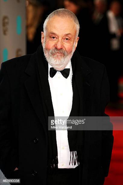 Director Mike Leigh attends the EE British Academy Film Awards at The Royal Opera House on February 8 2015 in London England