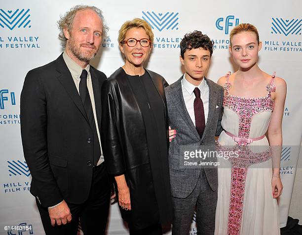 Director Mike Mills Annette Bening Lucas Jade Zumann and Elle Fanning attend the Premiere Screening of '20th Century Women' at the 39th Mill Valley...