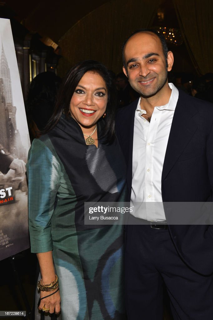Director Mira Nair and author Mohsin Hamid attend the 'Reluctant Fundamentalist' Pre Party during the 2013 Tribeca Film Festival on April 22 2013 in...