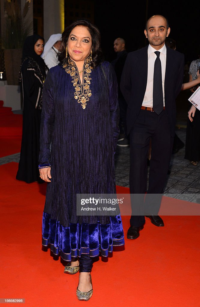Director <a gi-track='captionPersonalityLinkClicked' href=/galleries/search?phrase=Mira+Nair&family=editorial&specificpeople=214181 ng-click='$event.stopPropagation()'>Mira Nair</a> attends the opening night ceremony and gala screening of 'The Reluctant Fundamentalist' during the 2012 Doha Tribeca Film Festival at Al Mirqab Hotel on November 17, 2012 in Doha, Qatar.