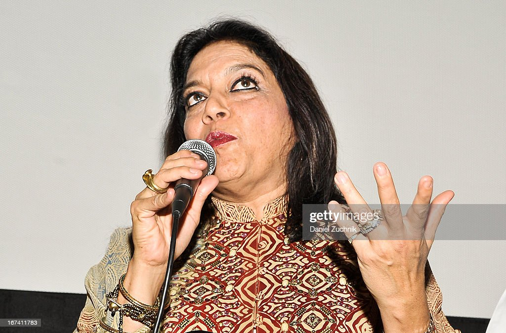 Director <a gi-track='captionPersonalityLinkClicked' href=/galleries/search?phrase=Mira+Nair&family=editorial&specificpeople=214181 ng-click='$event.stopPropagation()'>Mira Nair</a> attends the Q&A following 'The Reluctant Fundamentalist' screening during the 2013 New York Indian Film Festival at Big Cinemas Manhattan on April 24, 2013 in New York City.