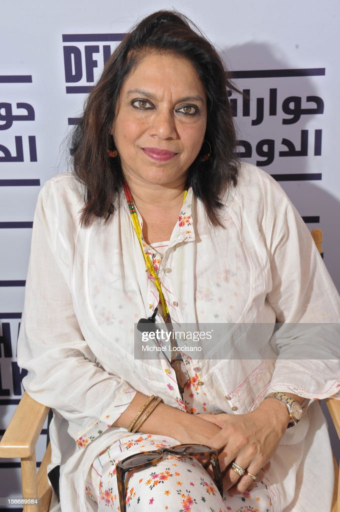 Director Mira Nair attends the 'When Is Enough,Enough' panel at the Al Mirqab Hotel during the 2012 Doha Tribeca Film Festival on November 19, 2012 in Doha, Qatar.