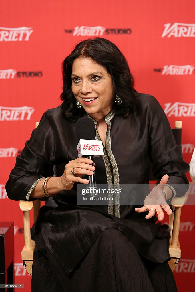 Director <a gi-track='captionPersonalityLinkClicked' href=/galleries/search?phrase=Mira+Nair&family=editorial&specificpeople=214181 ng-click='$event.stopPropagation()'>Mira Nair</a> attends Variety Studio presented by Moroccanoil at Holt Renfrew on Day 2 at Holt Renfrew, Toronto during the 2012 Toronto International Film Festival on September 9, 2012 in Toronto, Canada.