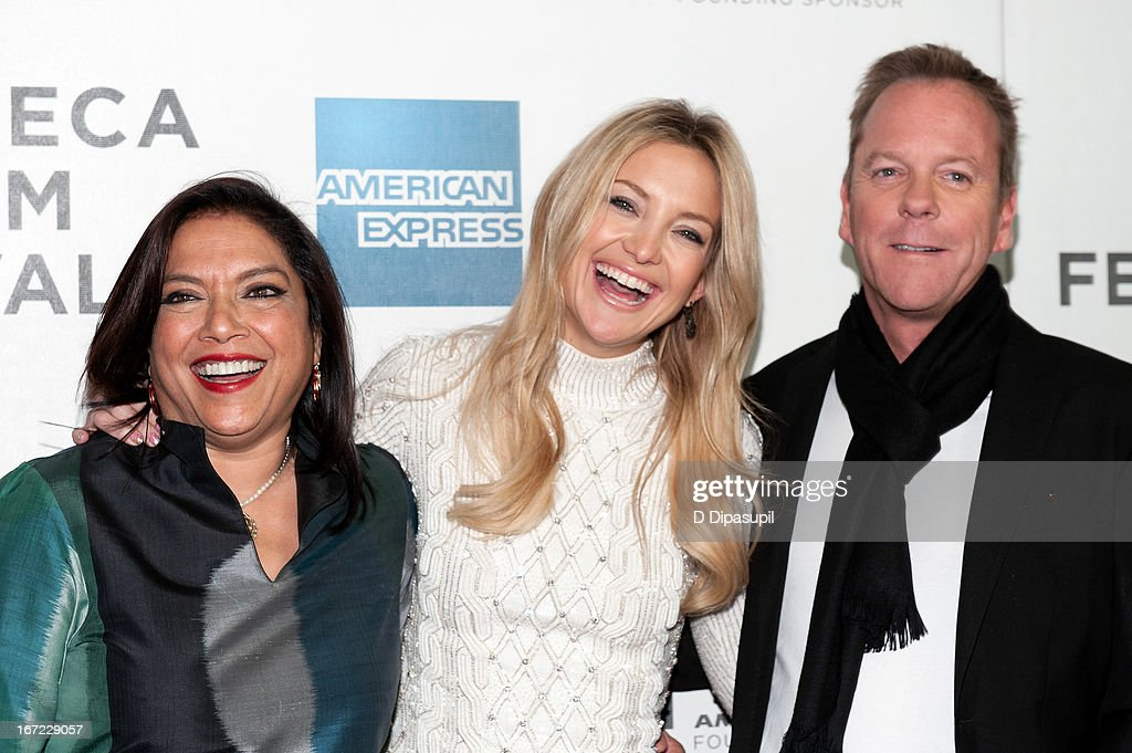 Director Mira Nair Kate Hudson and Kiefer Sutherland attend the screening of 'The Reluctant Fundamentalist' during the 2013 Tribeca Film Festival at...