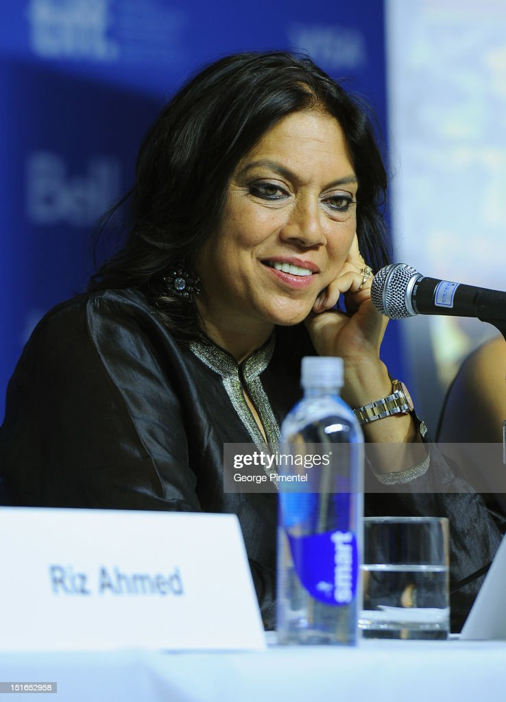 Director Mira Nair speaks onstage at 'The Reluctant Fundamentalist' Press Conference during the 2012 Toronto International Film Festival at TIFF Bell...