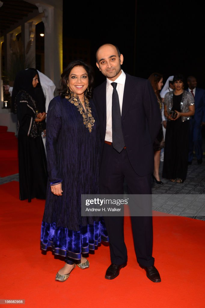 Director Mira Nair with novellist Mohsin Hamid attends the opening night ceremony and gala screening of 'The Reluctant Fundamentalist' during the...