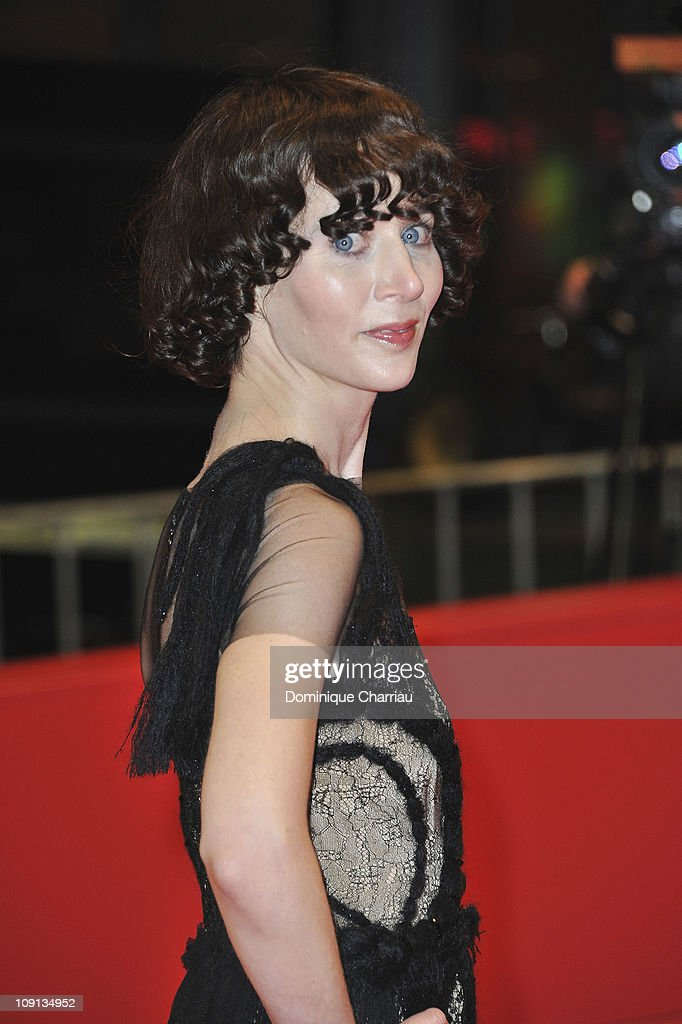 US director Miranda July attends the 'The Future' Premiere during day six of the 61st Berlin International Film Festival at Berlinale Palace on...