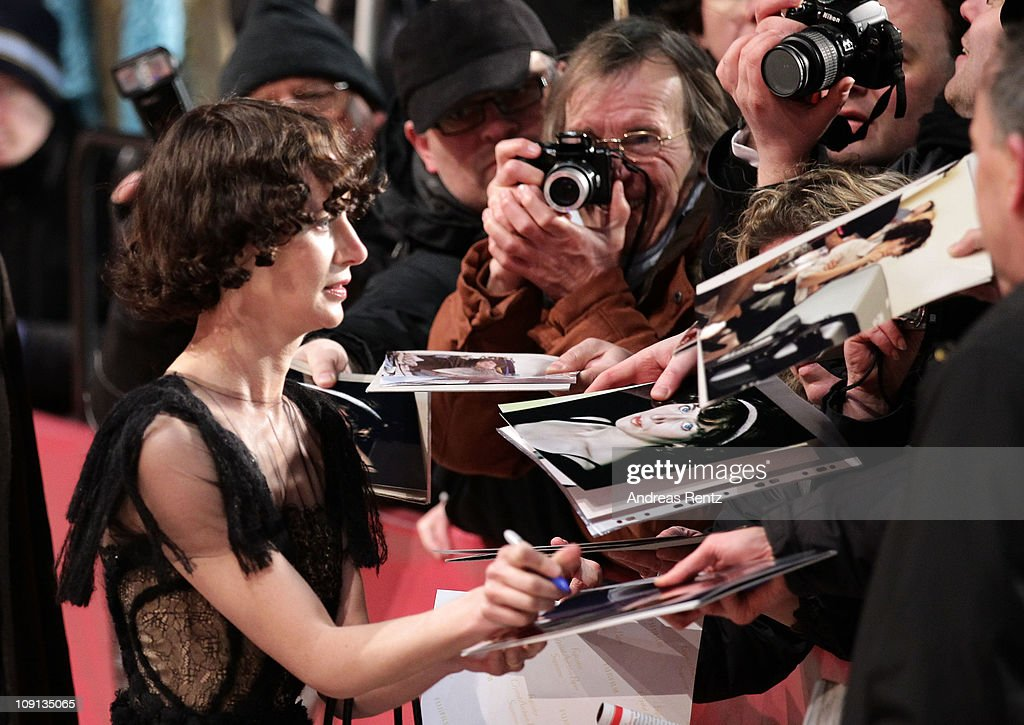 US director Miranda July signs autographs during the 'The Future' Premiere during day six of the 61st Berlin International Film Festival at Berlinale...