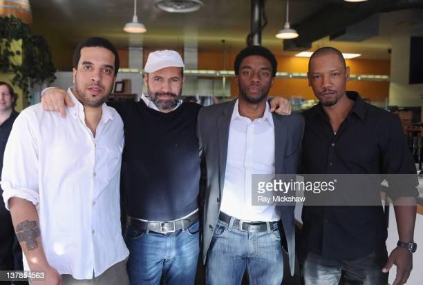 Director Mischa Webley Actors Billy Zane Chadwick Boseman and Tory Kittles of 'the Kill Hole' attend Day 3 of the 2012 Santa Barbara International...