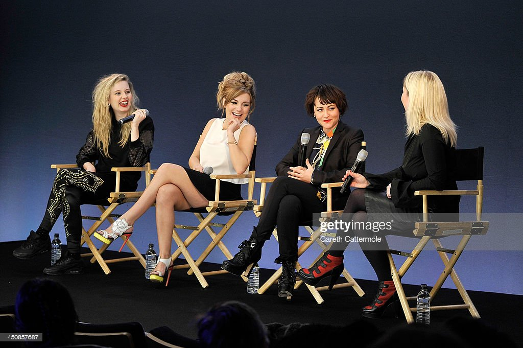 Director MJ Delaney and actresses Sheridan Smith and Jaime Winstone discuss their new film 'Powder Room' at the Apple Store Regent Street on November...