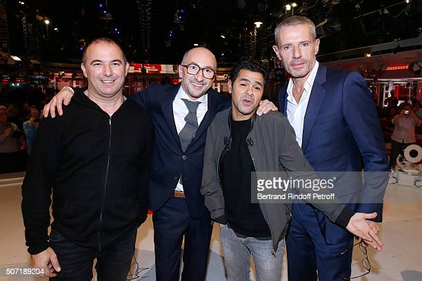 Director Mohamed Hamidi Actors Fatsah Bouyahmed Jamel Debbouze and Lambert Wilson present the Movie 'La Vache' during the 'Vivement Dimanche' French...