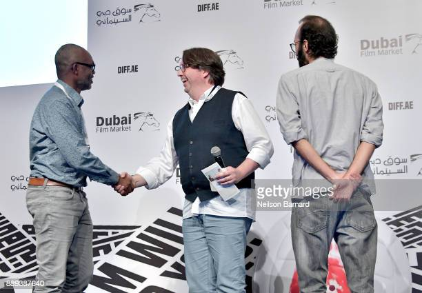 Director Mohamed Ismail Laouti and producer Willy Rolle winners of the DIFF Award and who received a nomination for the next round of the Film Prize...