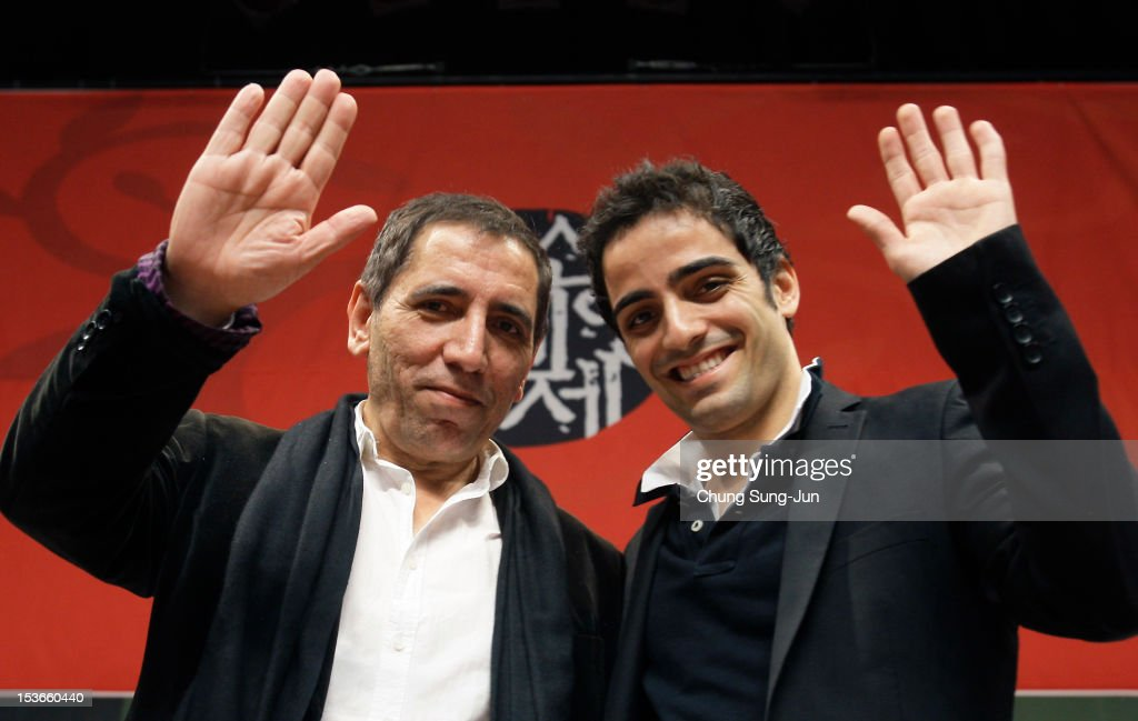 Director Mohsen Makhmalbaf and actor Maysam Makhmalbaf attend the 'Gardener' gala presentation and press conference at the Shinsegae Centumcity cultural hall during the 17th Busan International Film Festival (BIFF) at the Busan Cinema Center on October 8, 2012 in Busan, South Korea. The biggest film festival in Asia showcases 304 films from 75 countries and runs from October 04 until October 13..