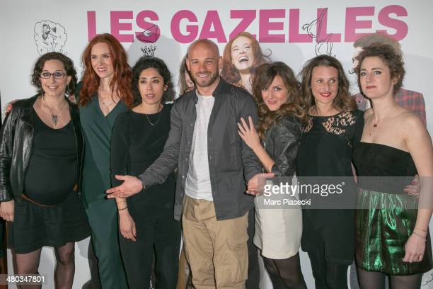 Director Mona Achache actresses Audrey Fleurot Naidra Ayadi actor Franck Gastambide actresses Camille Chamoux Camille Cottin and Josephine de Meaux...