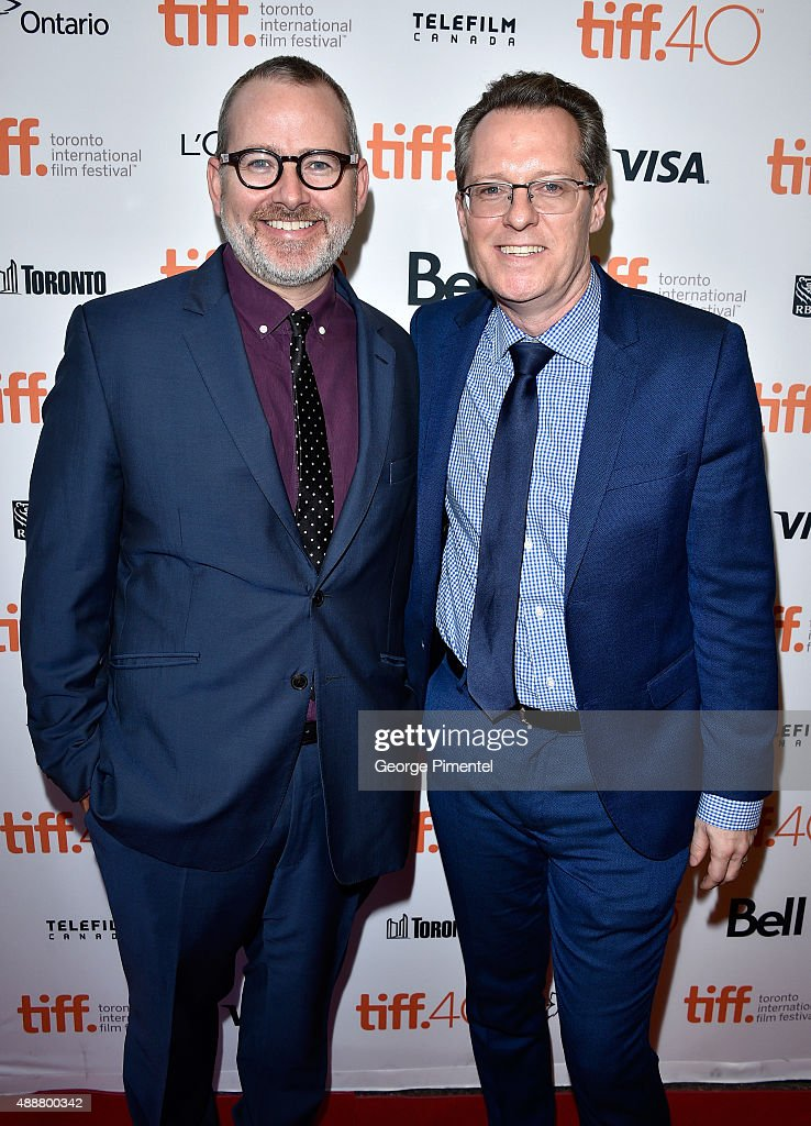 Director Morgan Neville (L) and Executive Producer Joe Killian attend the 'Keith Richards: Under The Influence' premiere during the 2015 Toronto International Film Festival at Princess of Wales Theatre on September 17, 2015 in Toronto, Canada.