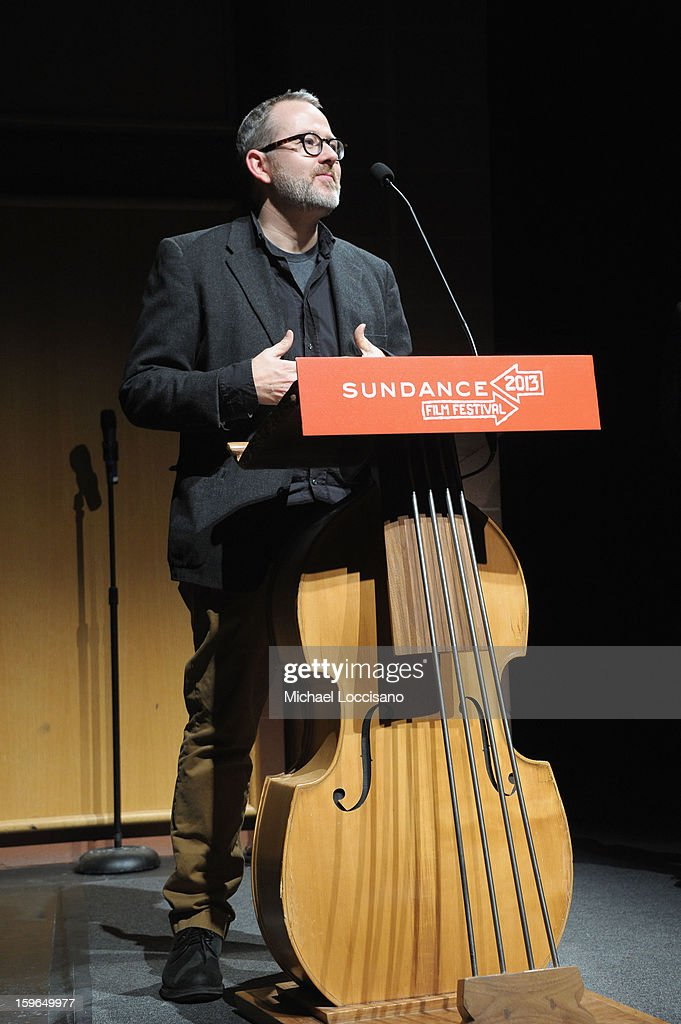 Director Morgan Neville speaks onstage at the 'Twenty Feet From Stardom' premiere during the 2013 Sundance Film Festival at Eccles Center Theatre on January 17, 2013 in Park City, Utah.