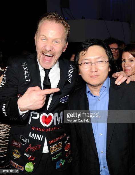 Director Morgan Spurlock and actor Masi Oka attend the after party for 'Pom Wonderful Presents The Greatest Movie Ever Sold' Los Angeles premiere...