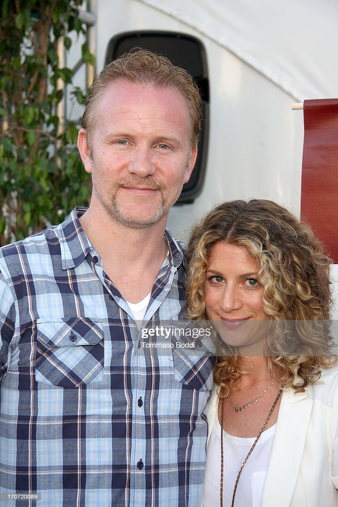 Director Morgan Spurlock (L) and HBO Documentary Films VP Sara Bernstein attend the HBO Docs Reception during the 2013 Los Angeles Film Festival at L.A. Live Event Deck on June 16, 2013 in Los Angeles, California.