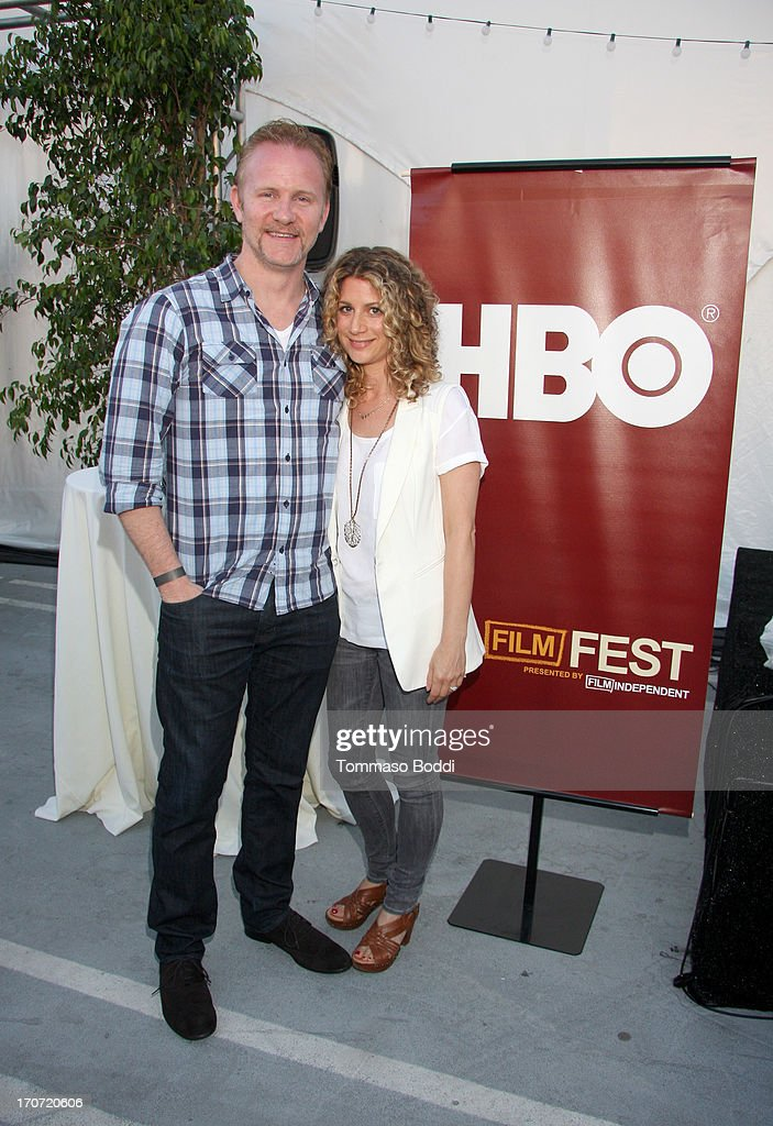 Director Morgan Spurlock and HBO Documentary Films VP Sara Bernstein attend the HBO Docs Reception during the 2013 Los Angeles Film Festival at LA...
