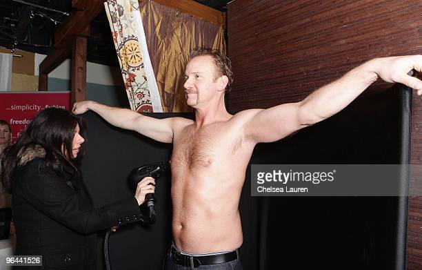 Director Morgan Spurlock attends Infinity Sun at the Kari Feinstein Sundance Style Lounge on January 24 2010 in Park City Utah
