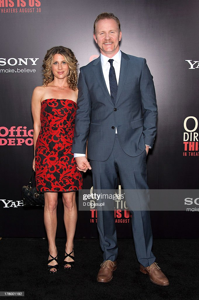 Director <a gi-track='captionPersonalityLinkClicked' href=/galleries/search?phrase=Morgan+Spurlock&family=editorial&specificpeople=212719 ng-click='$event.stopPropagation()'>Morgan Spurlock</a> (R) attends the New York premiere of 'One Direction: This Is Us' at the Ziegfeld Theater on August 26, 2013 in New York City.