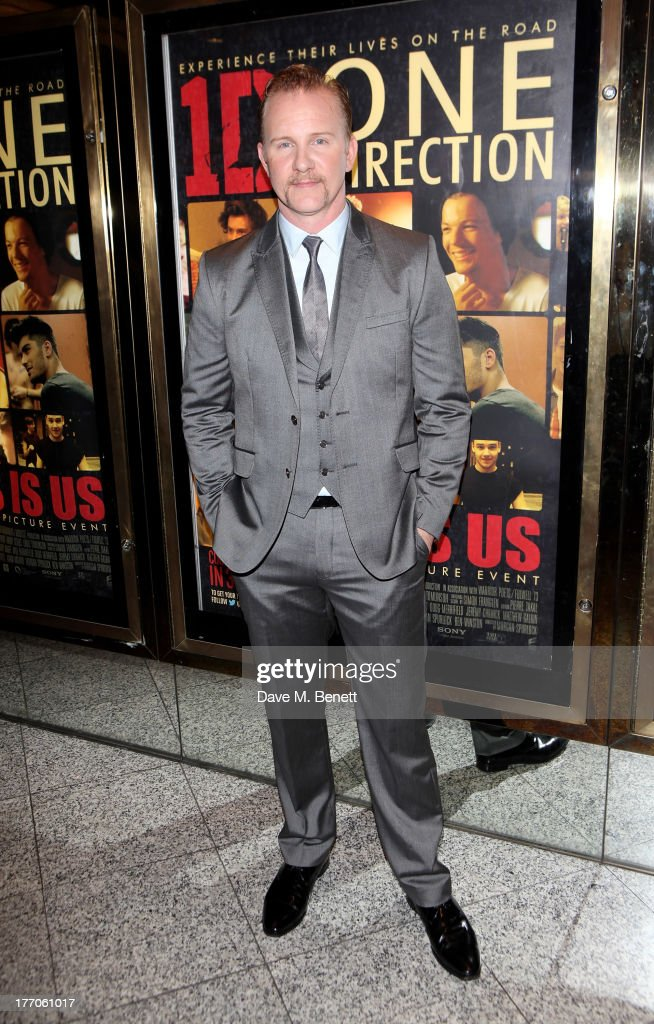 Director Morgan Spurlock attends the World Premiere of 'One Direction This Is Us 3D' at Empire Leicester Square on August 20 2013 in London England