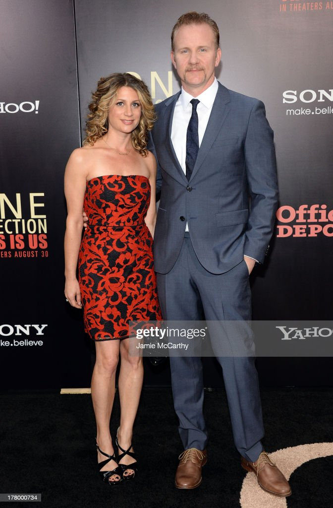 Director <a gi-track='captionPersonalityLinkClicked' href=/galleries/search?phrase=Morgan+Spurlock&family=editorial&specificpeople=212719 ng-click='$event.stopPropagation()'>Morgan Spurlock</a> (R) attends the world premiere of 'One Direction: This Is Us' at the Ziegfeld Theater on August 26, 2013 in New York City.