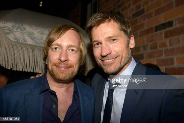 Director Morten Tyldum and actor Nikolaj CosterWaldau attend The Grey Goose Party for The Weinstein Company and Elevation Pictures' 'Imitation Game'...