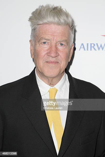 Director / musician David Lynch arrives at the 10th anniversary of the David Lynch Foundation at The Ace Hotel Theater on April 1 2015 in Los Angeles...
