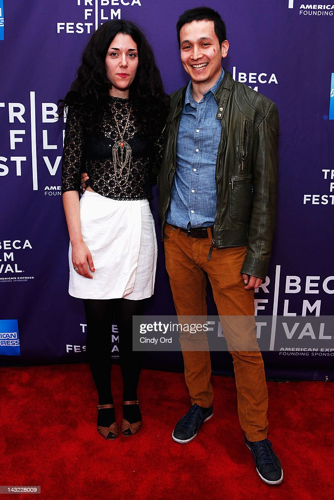 Director Nadav Kurtz (R) of the film 'Paraiso' and guest attend 'Help Wanted' Shorts Program during the 2012 Tribeca Film Festival at the AMC Lowes Village on April 21, 2012 in New York City.