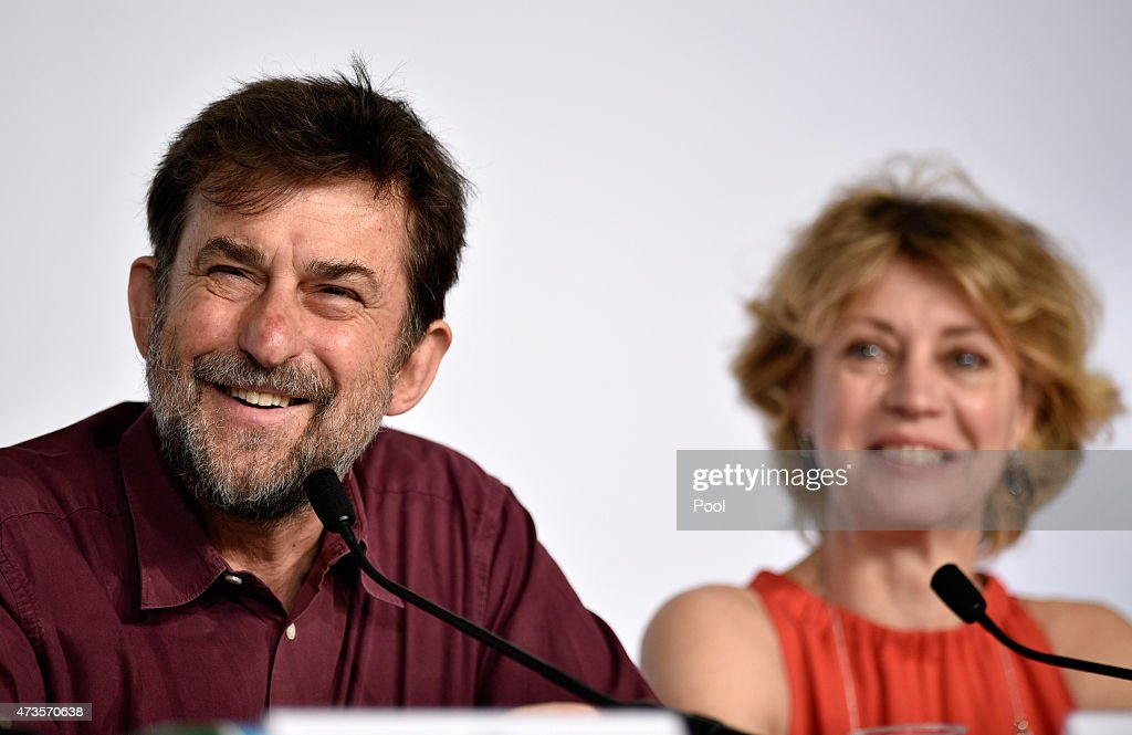 Director Nanni Moretti and Margherita Buy attend the press conference for 'Mia Madre' ('My Mother') during the 68th annual Cannes Film Festival on May 16, 2015 in Cannes, France.
