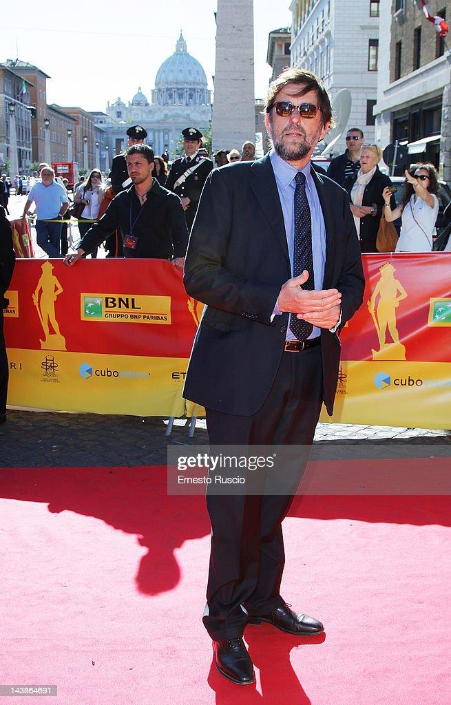 Director <a gi-track='captionPersonalityLinkClicked' href=/galleries/search?phrase=Nanni+Moretti&family=editorial&specificpeople=621165 ng-click='$event.stopPropagation()'>Nanni Moretti</a> attends the David di Donatello awards the at Auditorium Della Conciliazione on May 4, 2012 in Rome, Italy.