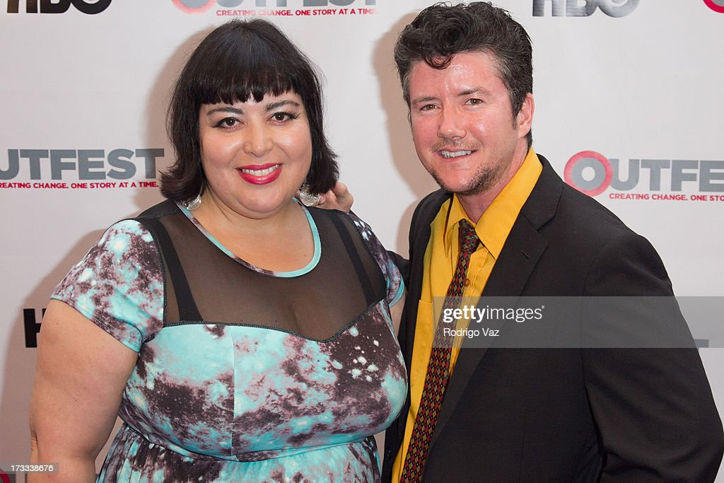 Director Nao Bustamante and producer Silas Howard arrive at the 13th Annual Outfest Opening Night Gala Of 'C.O.G.' at Orpheum Theatre on July 11, 2013 in Los Angeles, California.
