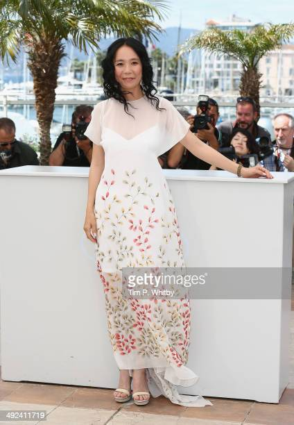 Director Naomi Kawase attends the 'Futatsume No Mado' photocall during the 67th Annual Cannes Film Festival on May 20 2014 in Cannes France