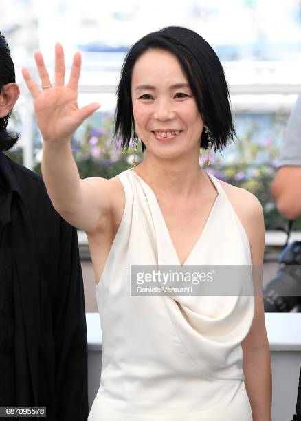 Director Naomi Kawase attends the 'Hikari ' photocall during the 70th annual Cannes Film Festival at Palais des Festivals on May 23 2017 in Cannes...