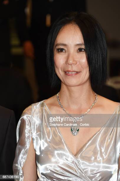 Director Naomi Kawase attends the 'Hikari ' premiere during the 70th annual Cannes Film Festival at Palais des Festivals on May 23 2017 in Cannes...