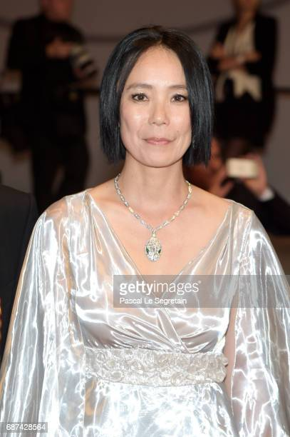 Director Naomi Kawase attends the 'Hikari ' screening during the 70th annual Cannes Film Festival at Palais des Festivals on May 23 2017 in Cannes...