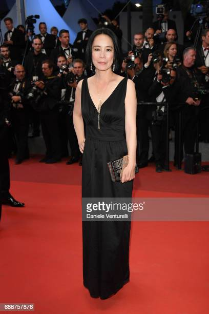 Director Naomi Kawase attends the 'In The Fade ' screening during the 70th annual Cannes Film Festival at Palais des Festivals on May 26 2017 in...